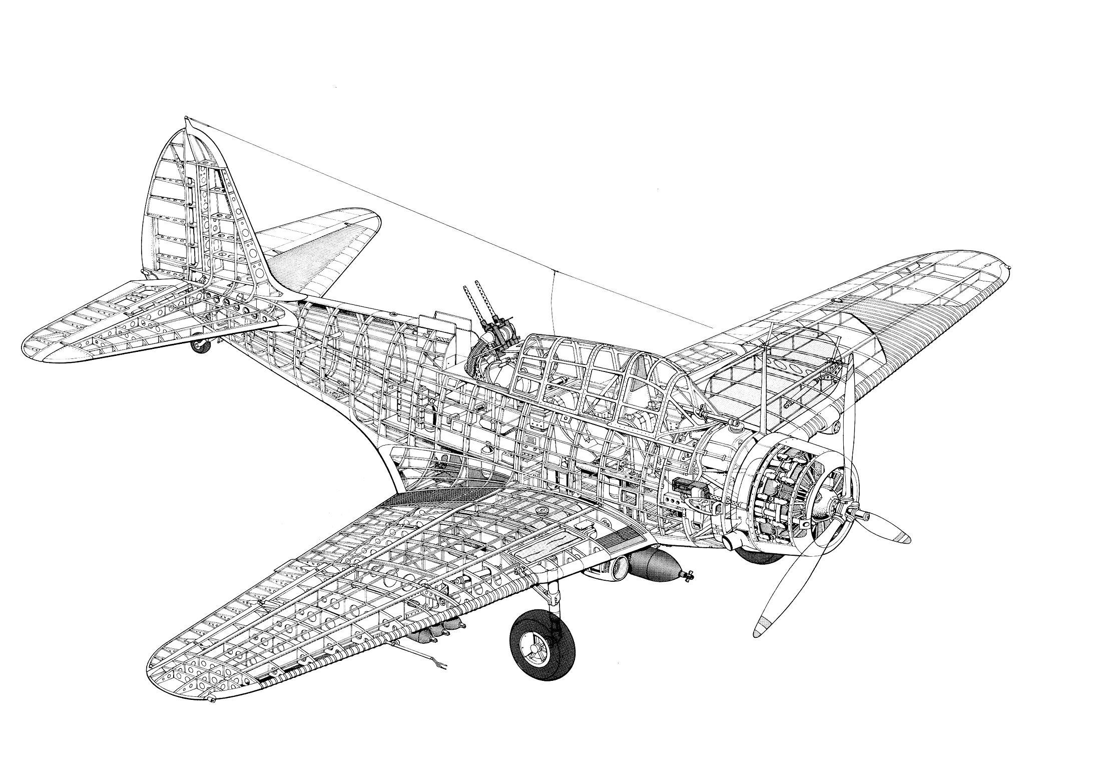 Pin su Aircraft clear cutaways ww I & ww II