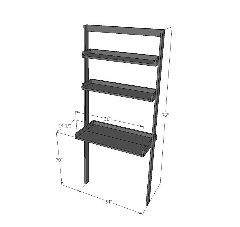 Leaning Wall Ladder Desk Ladder Desk Wall Ladders Diy Desk