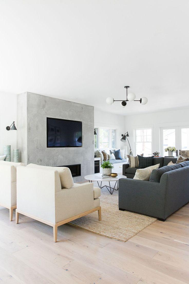 Wohnzimmer des modernen interieurs des hauses minimal modern home tour in mercer island u minimal modernen