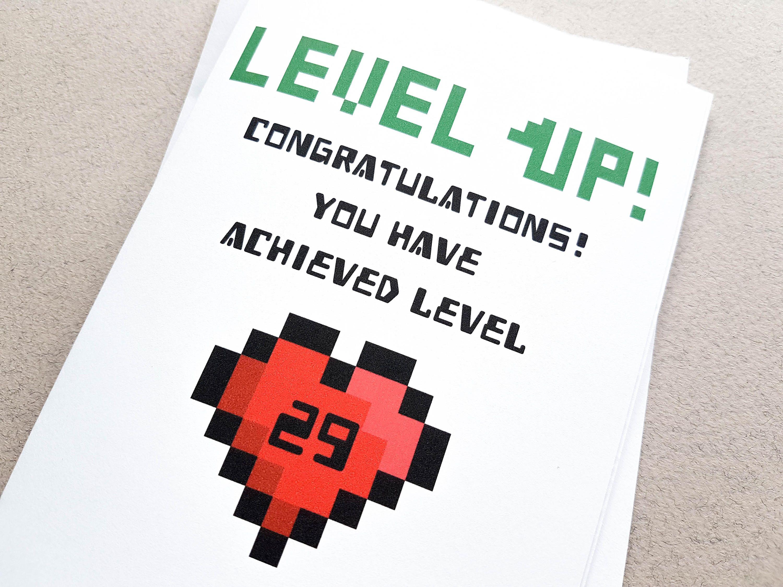 Personalised Level Up Birthday Card Retro Gaming Gift Grandma Birthday Card Birthday Cards Happy Birthday Cards