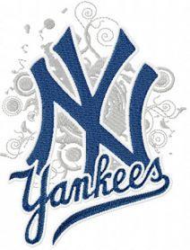 New York Yankees Modern Logo Embroidery Design Machine Embroidery Logo Embroidery Designs Embroidery Logo