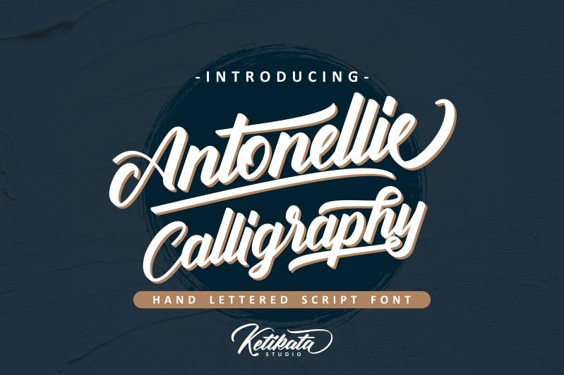 Antonellie Calligraphy Calligraphy fonts