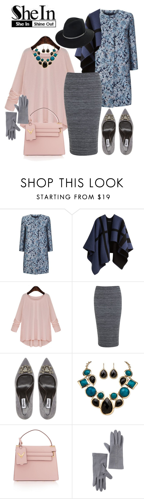 """""""Pink Round Neck Long Sleeve Bow Loose Blouse Set"""" by ul-inn ❤ liked on Polyvore featuring MaxMara, Burberry, Miss Selfridge, Dune, Palm Beach Jewelry, Valentino, Vincent Pradier, women's clothing, women's fashion and women"""