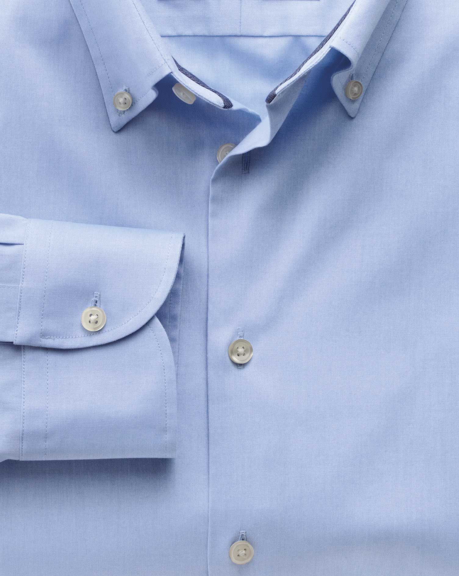 49f094582a4 Classic fit button-down collar non-iron business casual sky blue shirt