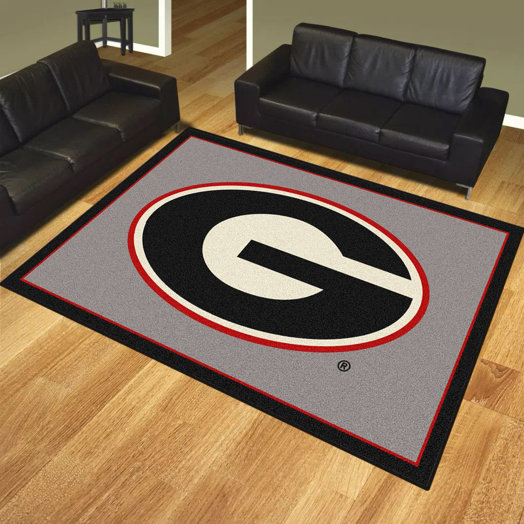 College Team Rugs Georgia Bulldogs Spirit Rug 533315 45287 Logo Awgs Georgiabulldogs Ncaa Homedecor