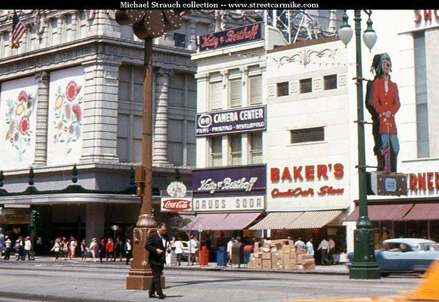 A 1968 photo of K Number 2 on the corner of Canal and Dauphine street. #nola #history