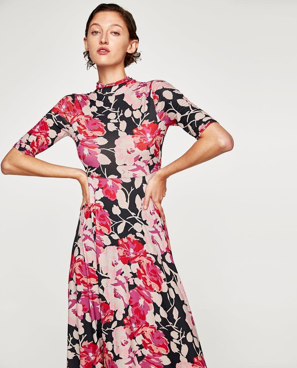 Imagen 2 de VESTIDO CUELLO ALTO de Zara | Vestir como dama ...