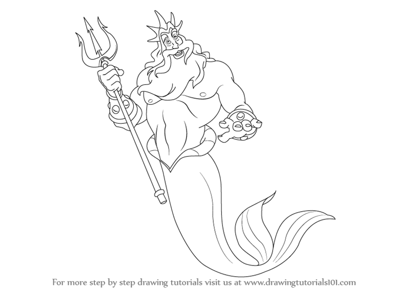 King Triton from The Little Mermaid as the name suggests is the lead ...