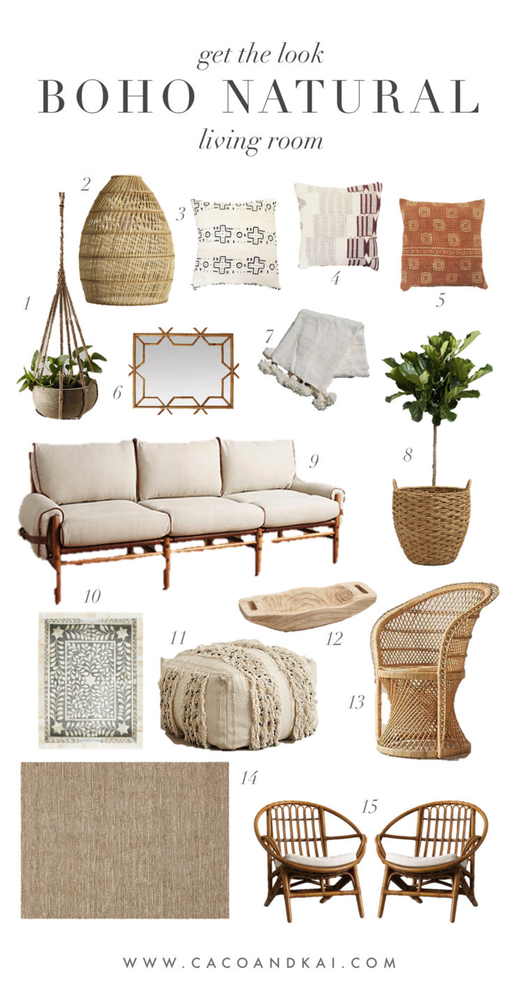 Boho Neutral Living Room Moodboard Get The Look In 2019