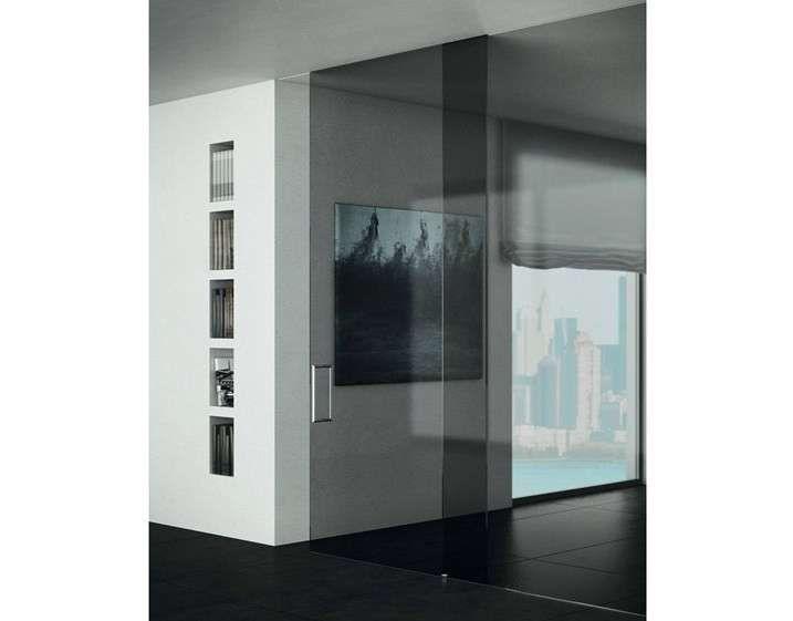 Porte scorrevoli in vetro - Porta scorrevole in vetro senza telaio ...