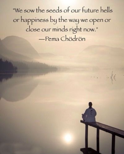 Pema Chodron Quotes Fair We Sow The Seeds Of Our Future Hells Or Happinessthe Way We Open . Inspiration