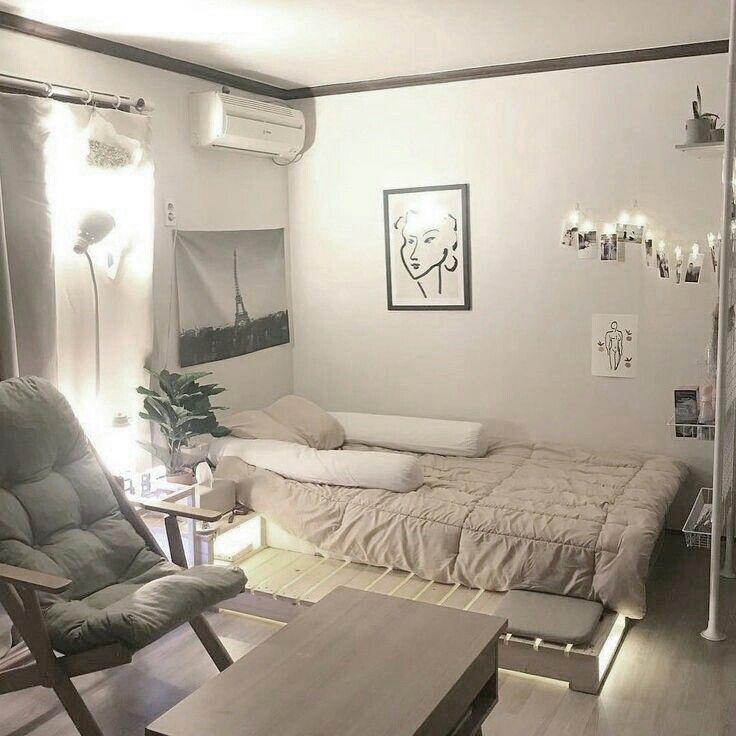 𝓎𝑜𝑜𝓃𝓈𝑒𝑜𝓀 寝室インテリアのアイデア インテリアデザイン リビング インテリア 6畳