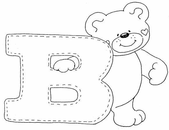 Maestra de Infantil: Abecedario de ositos para colorear | шрифт ...