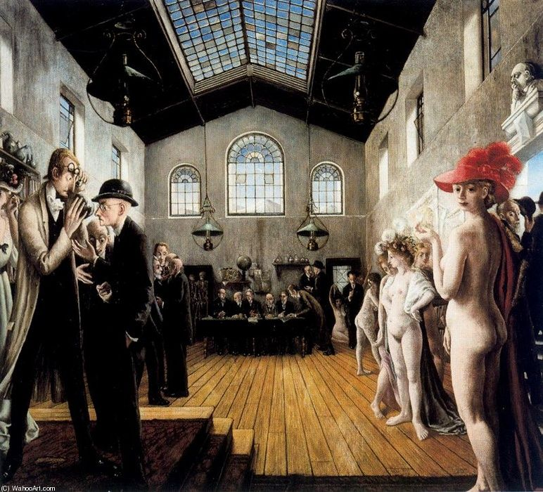 Paul delvaux het congres le congr s the for Paul delvaux le miroir