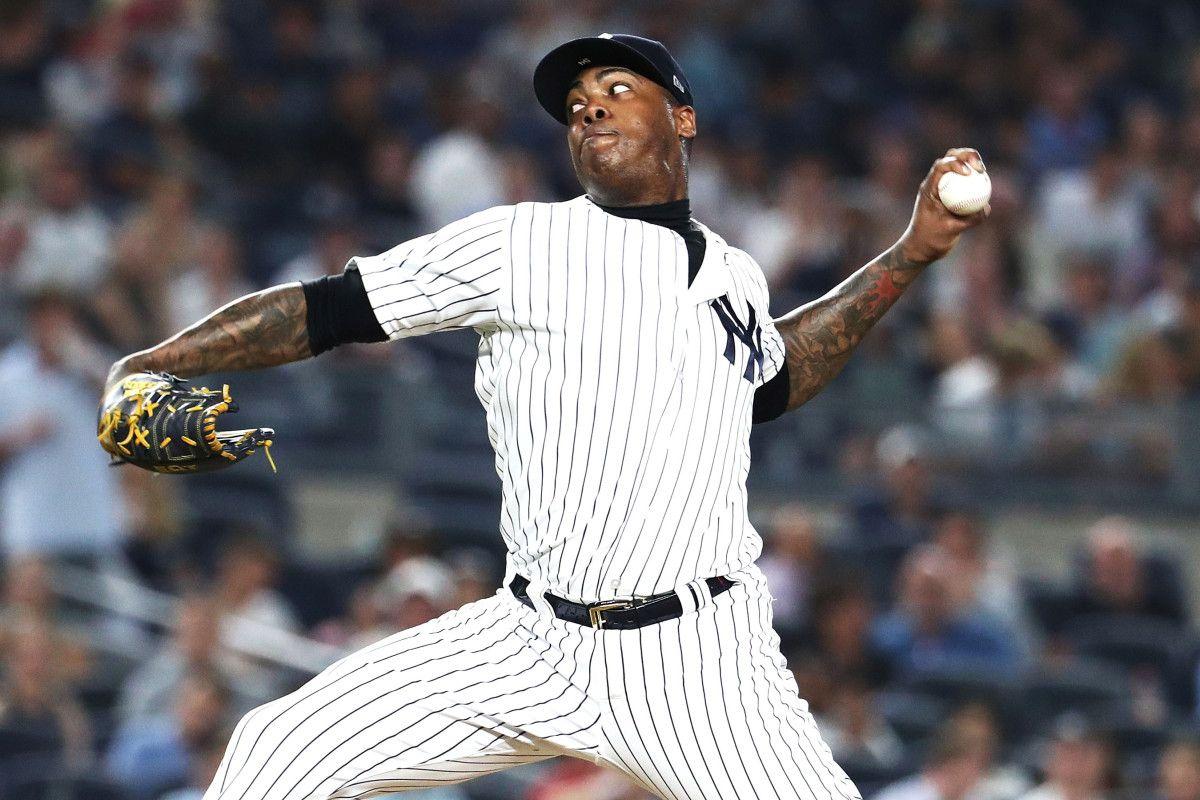 Yankees Easy Victory Dampened By Shaky Aroldis Chapman Aroldis Chapman Yankees New York Yankees Baseball