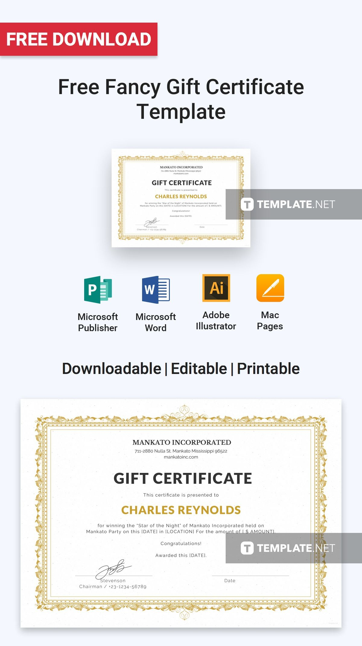 free fancy gift certificate gift certificate template gift