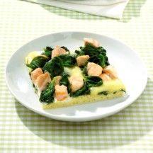 Zalm-Spinazie taart