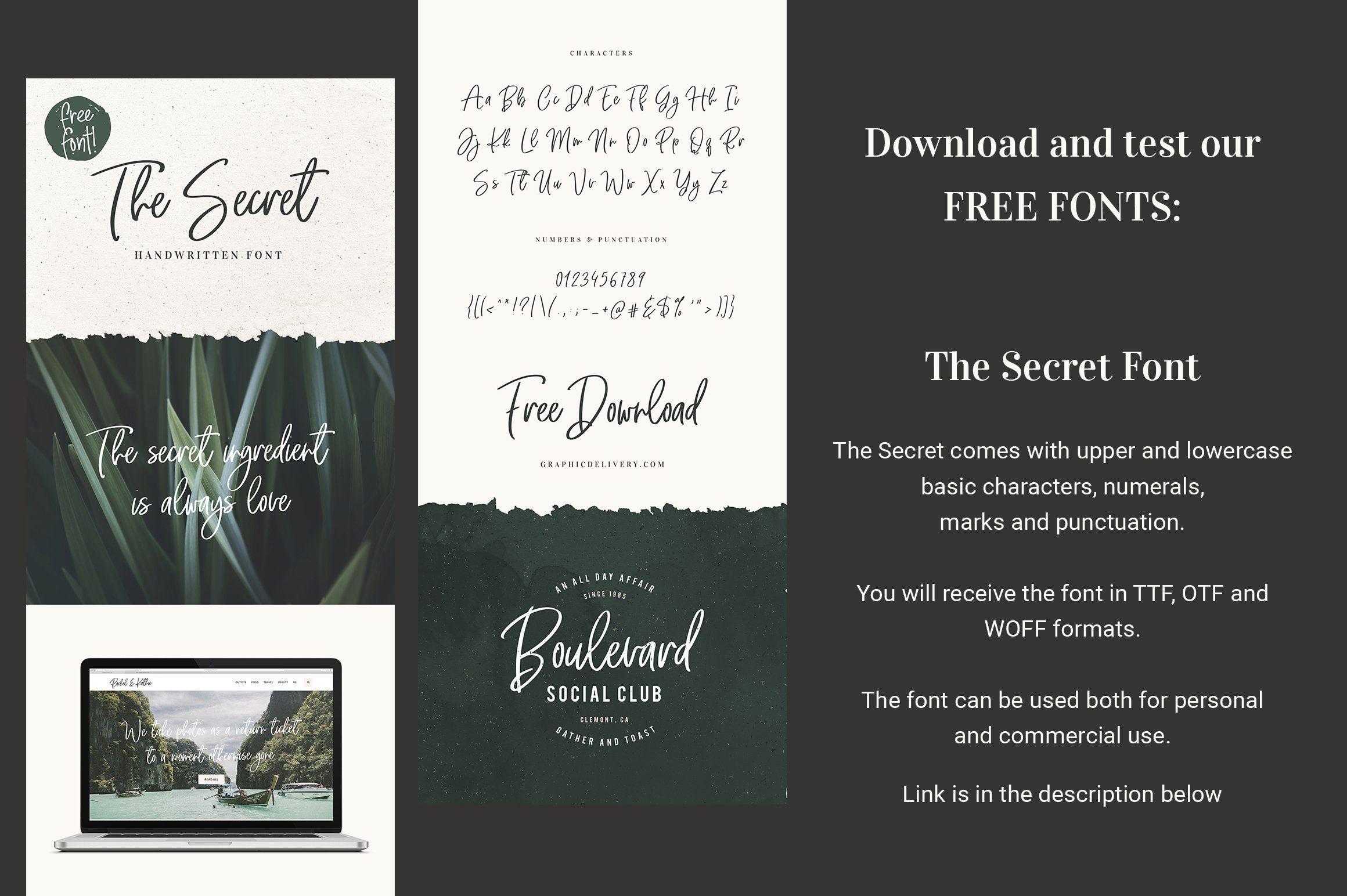 Download Handwritten Font Bundle is back! by VladCristea on ...