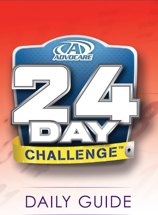 24 Day Challenge Daily Guide This Comes With Your Kit Advocare 24 Day Challenge Advocare Challenge Advocare