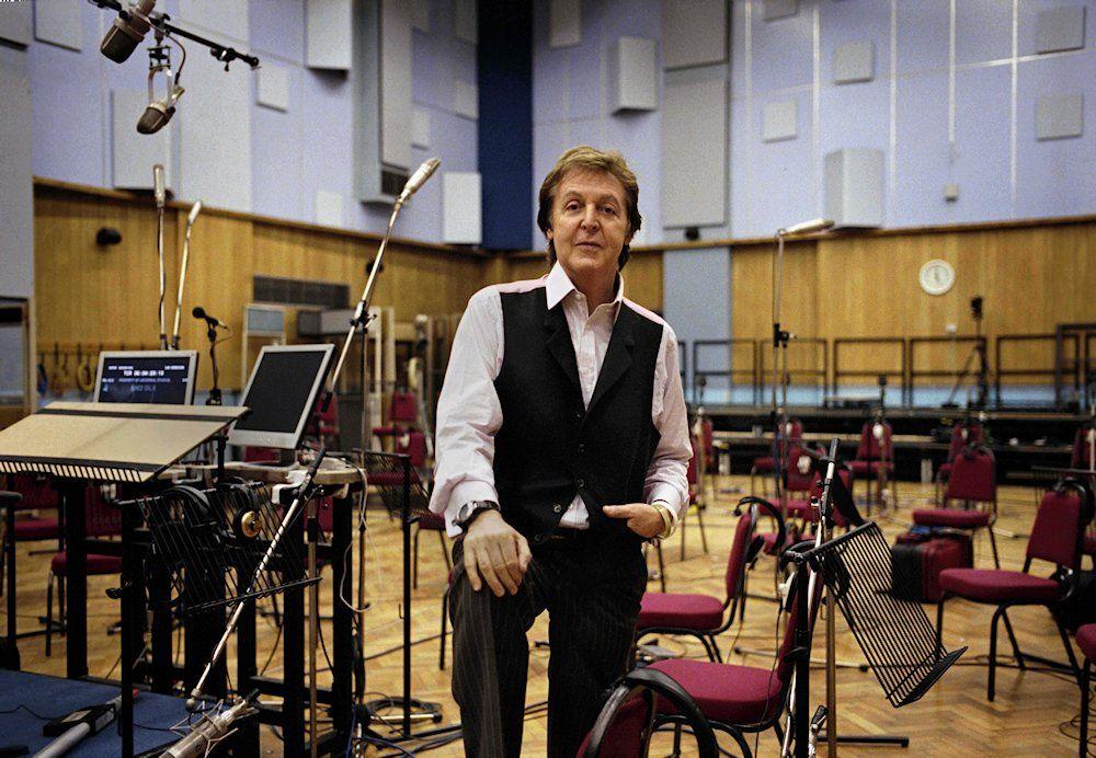 Paul McCartney at Abbey Road studio