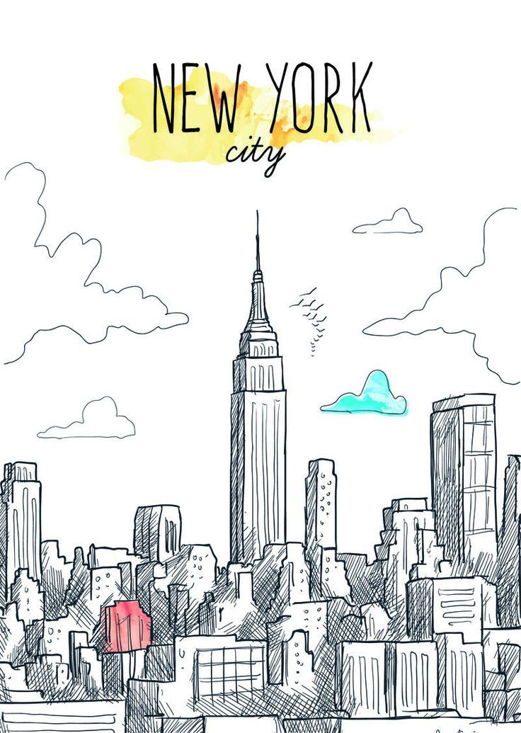 Pin By Kika On Journal New York Drawing New York Painting City Drawing
