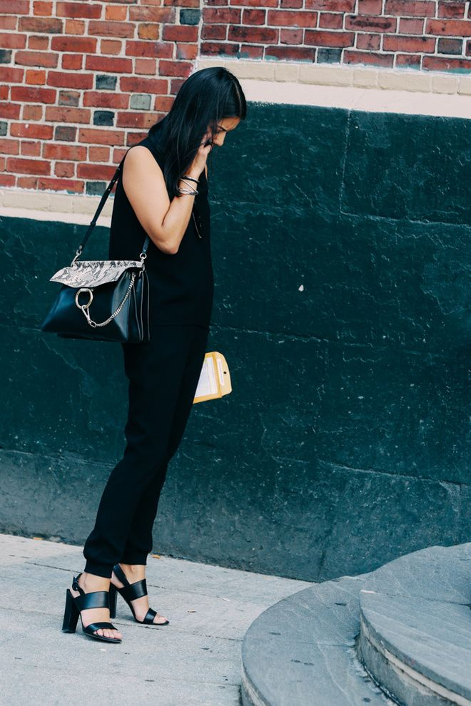 street looks la fashion week printemps t 2016 de new york street style fashion fashion. Black Bedroom Furniture Sets. Home Design Ideas