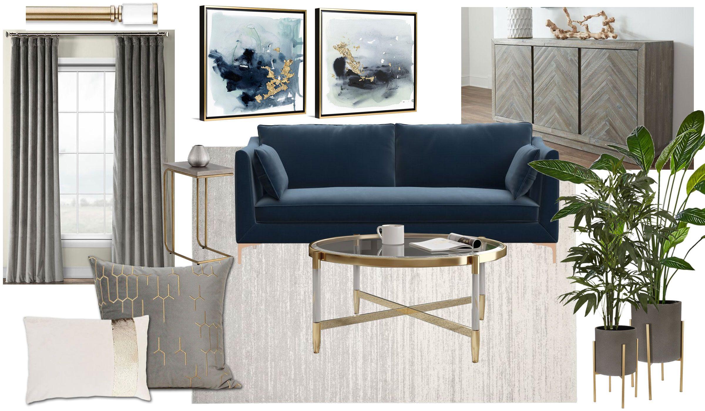 Modern Glam Living Room Moodboard Modern Grey Living Room Modern Glam Living Room Glam Living Room