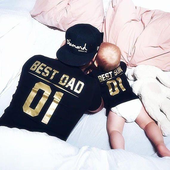 Padre e hijo que camisas mejor padre mejor hijo papá y bebé 8b609f0d4b0