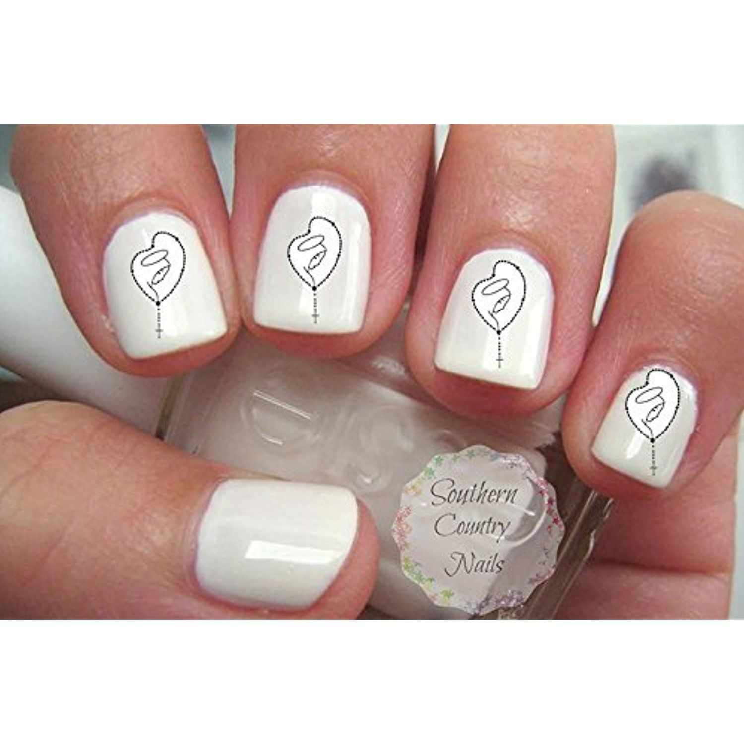 Rosary Mary Religious God Jesus Priest Nail Art Decals * Check out ...
