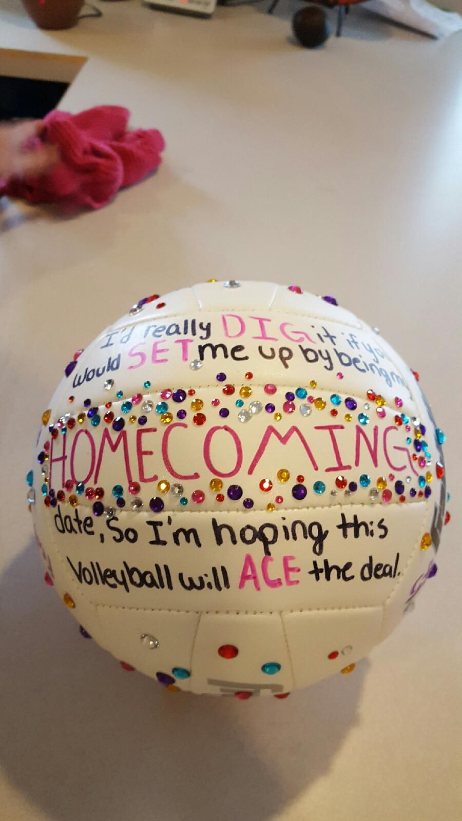 Ask To Homecoming Volleyball Asking To Homecoming Homecoming Proposal Cute Prom Proposals