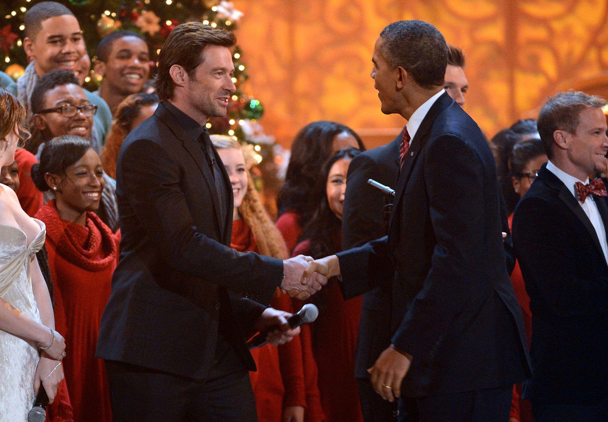 Hugh Jackman con Obama
