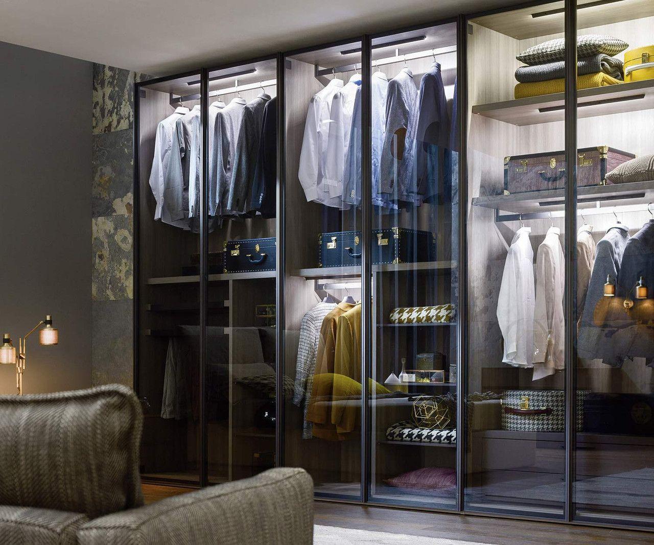 Die Durchsichtigen Glasturen Des Novamobili Kleiderschrank Perry Sind Leicht Getont Und Geben Der Kl In 2020 Schrank Mit Glasturen Kleiderschrank Kleiderschrank Design