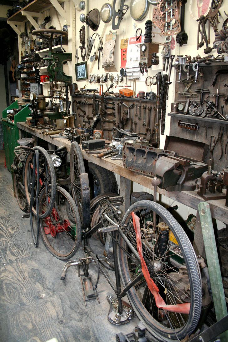 bicycle repair shop | Vintage Bicycles | Bicycle, Bicycle