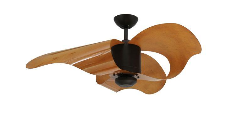 Unique Bent Sheet Flexible Polycarbonate Blades 44 Inch Modern Ceiling Fan