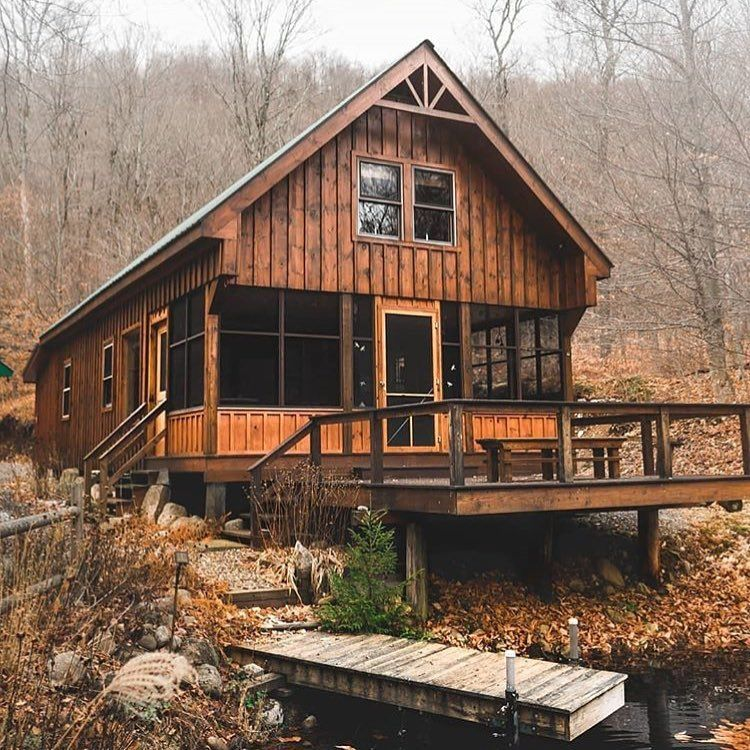 Play Card Or Go Fishing Cabins In The Woods Beautiful Cabins Cabin Life