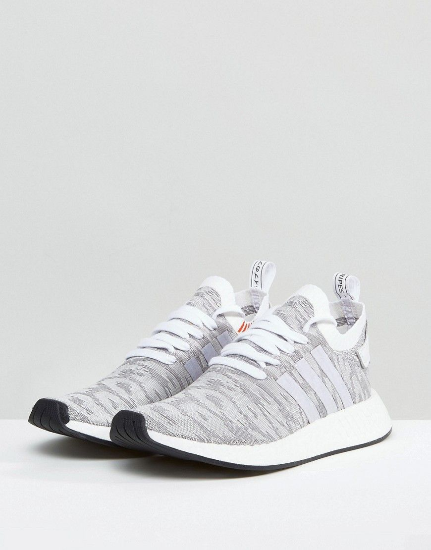 the best attitude 1fef0 8c36f adidas Originals NMD R2 Primeknit Sneakers In White BY9410 ...