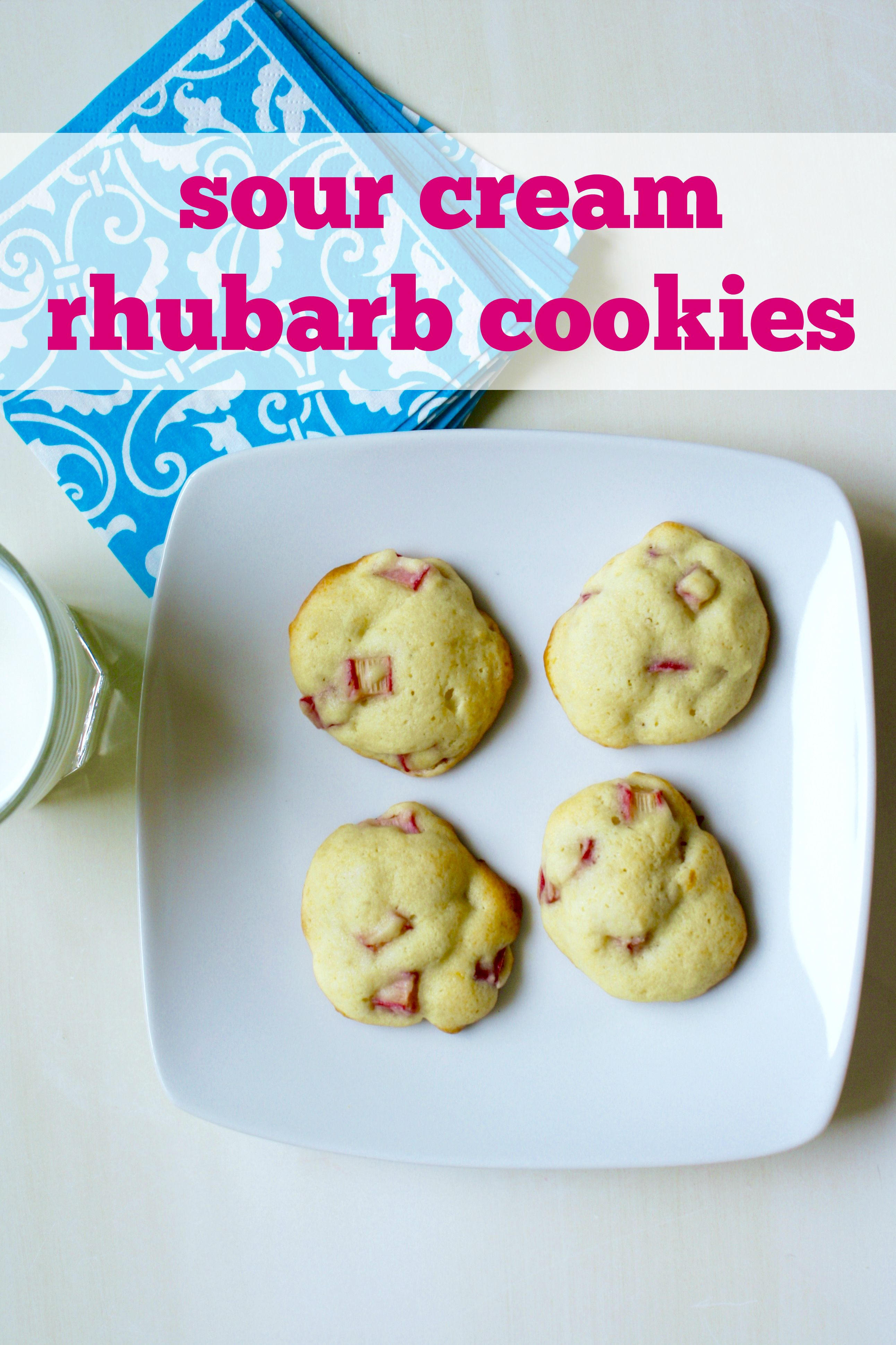 Sour Cream Rhubarb Cookies Recipe Rhubarb Cookies Rhubarb Bakery Recipes