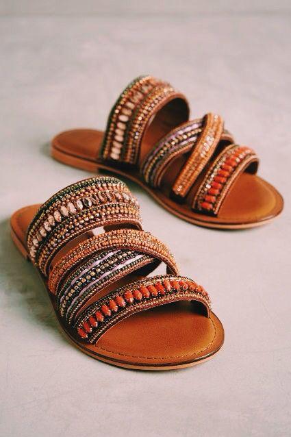 244975651aca Anthropologie Embellished Sandals Beautiful sandals from Anthropologie. Fit  like a size 9 Anthropologie Shoes Sandals