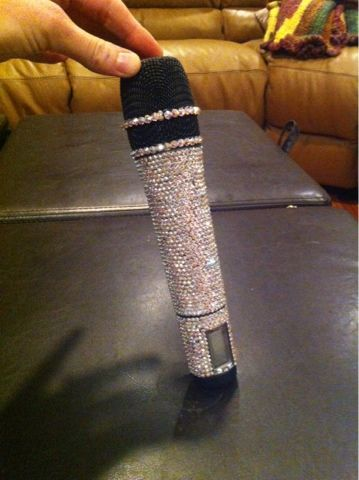 All things sparkly!: DIY Swarovski Crystal Covered Wireless Mic