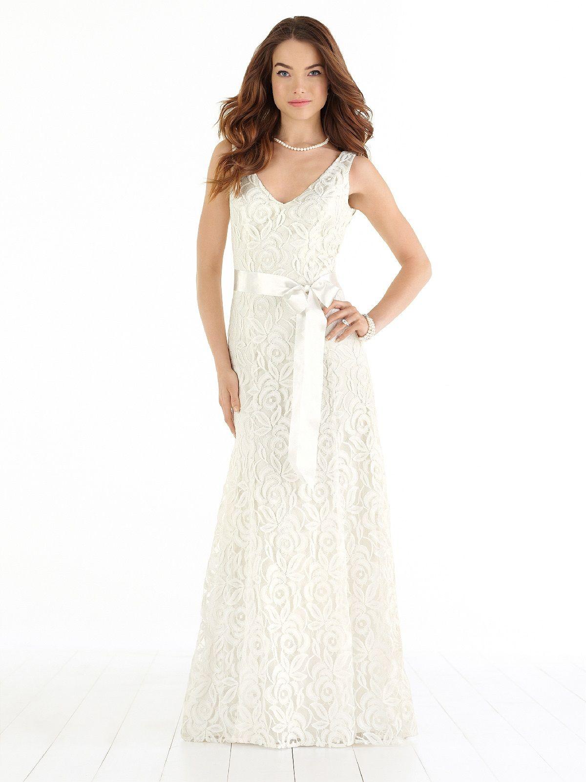 Wedding Photography Under 500: Full-length V-neck Lace Beach Wedding Dress Has Sweep