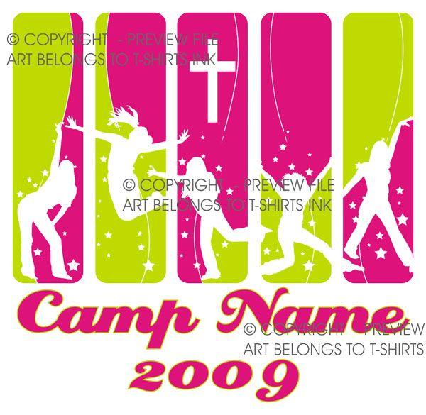 Girl's fun Church Camp T-Shirts