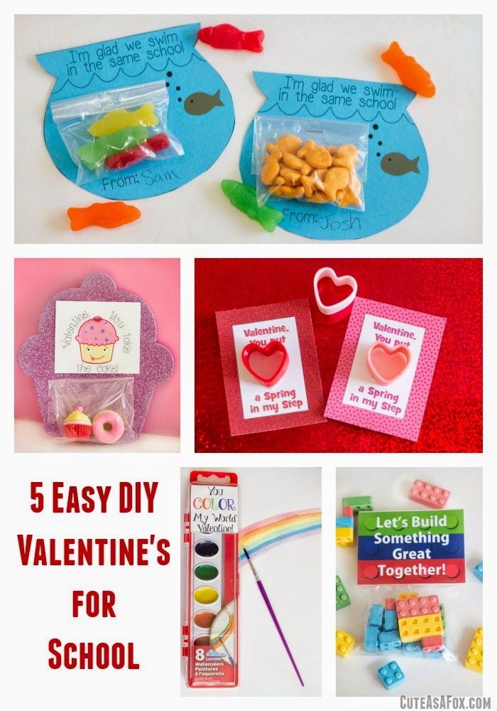 5 easy diy printable valentines perfect for school lego valentines rainbow valentines cupcake - Valentines For School