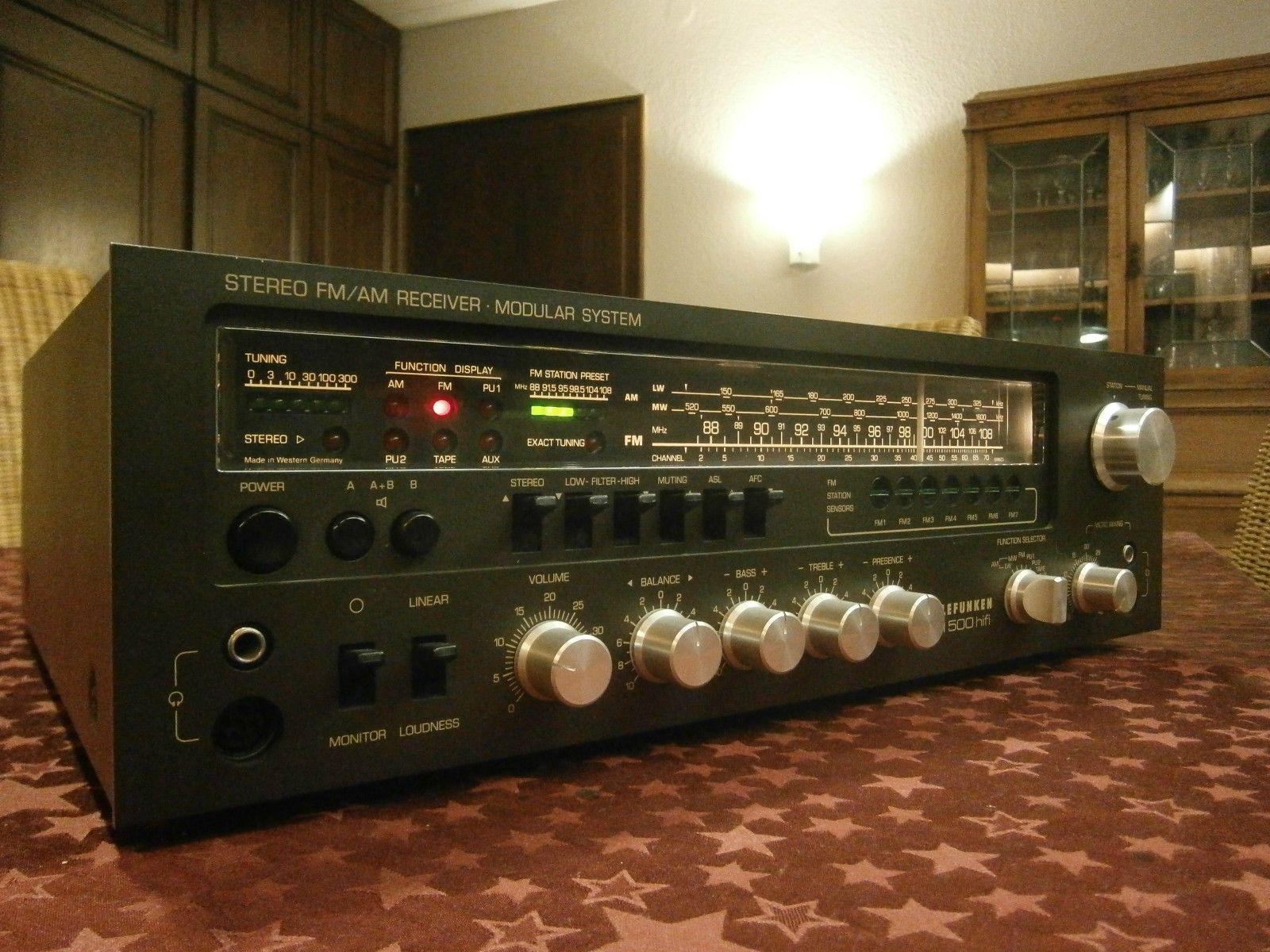 telefunken stereo receiver tr 500 stereo receiver. Black Bedroom Furniture Sets. Home Design Ideas