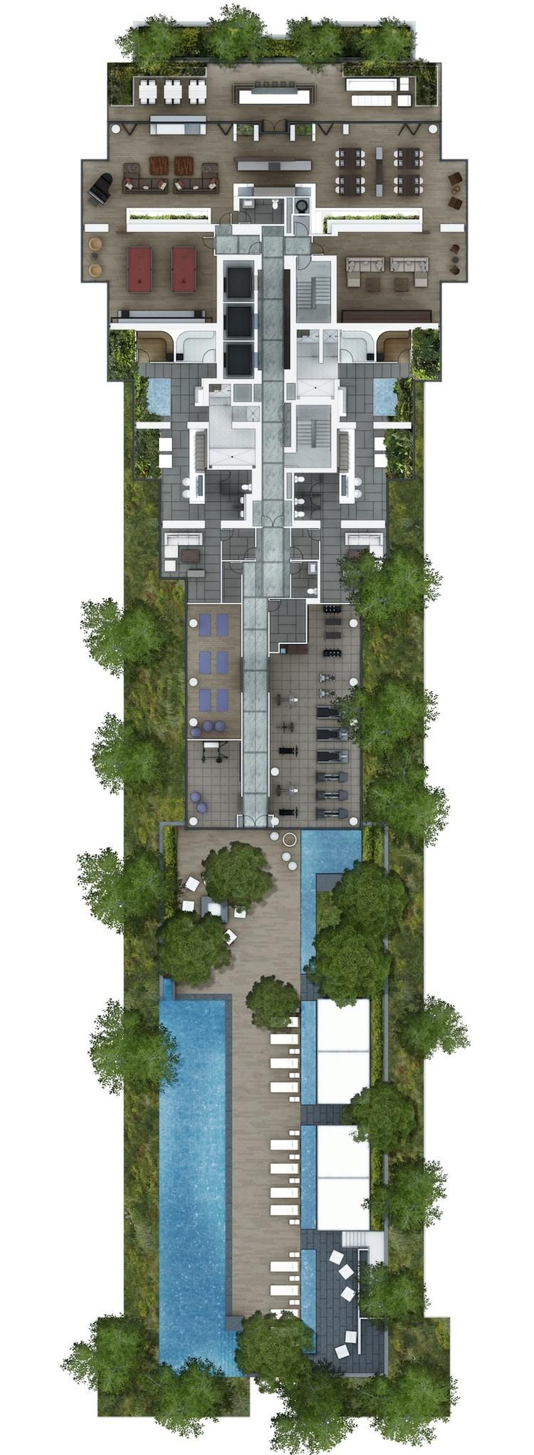 rooftop amenity plan - Google Search