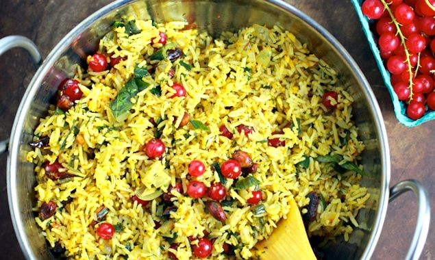 Red currant chitranna rice recipe picnic foods summer picnic chitranna is a south indian lemon peanut rice and tart currants add a burst of tartness forumfinder Images