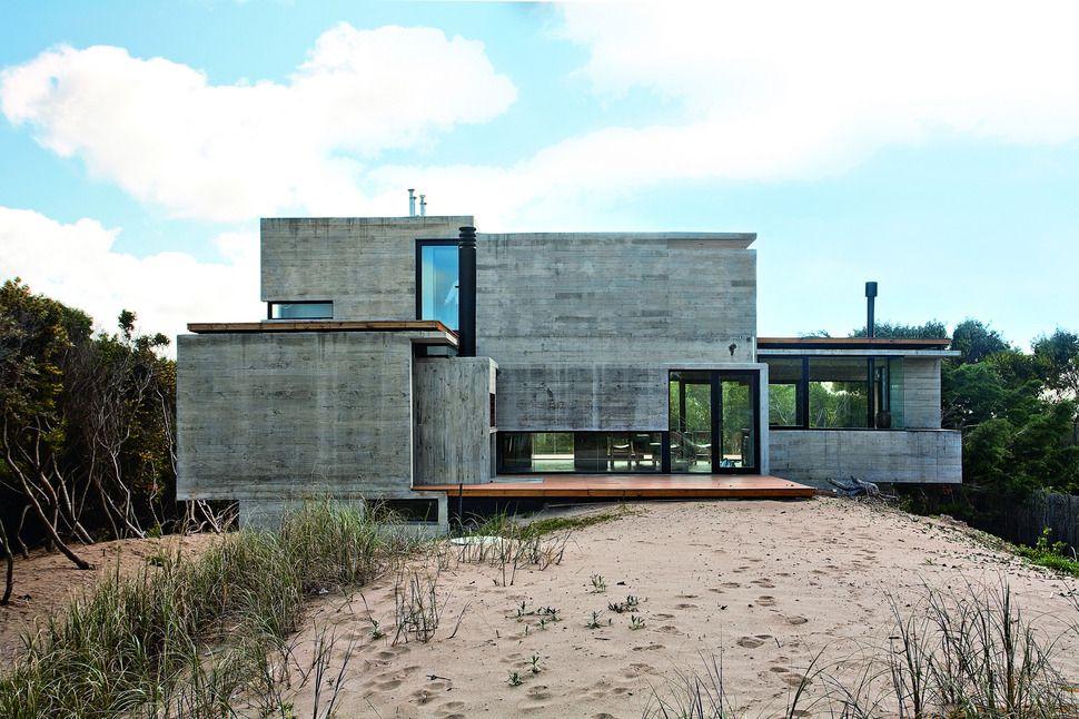 Bare Concrete Beach House Concrete House Beautiful Beach Houses Architecture