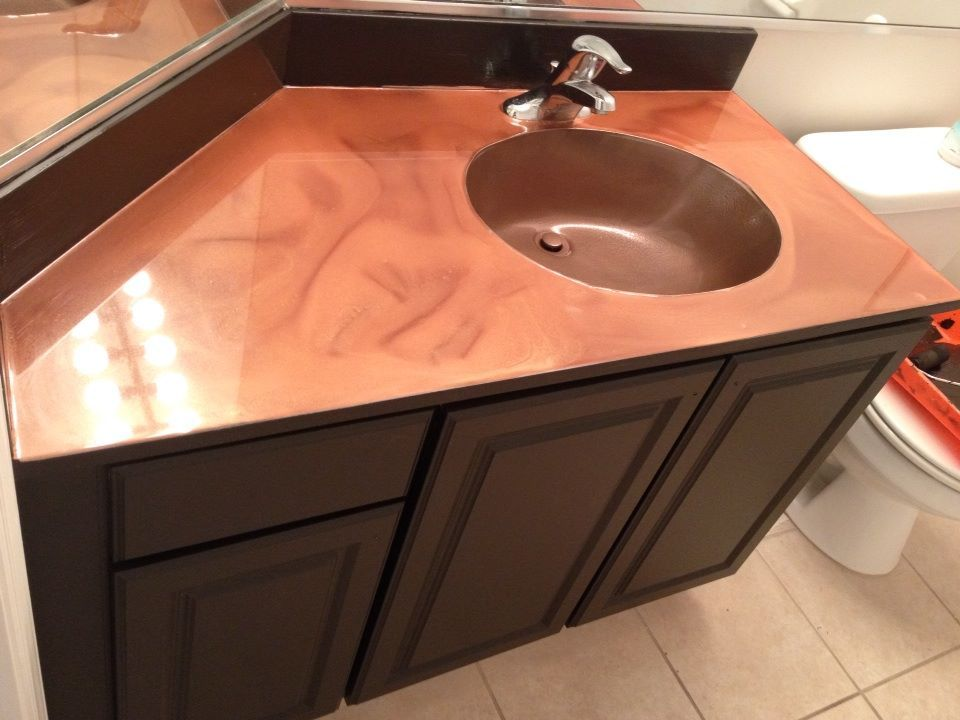 Re painted cabinet and countertop was done with the Epoxy