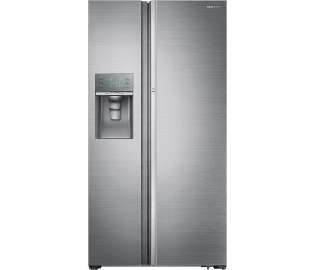 Samsung Showcase 28 7 Cu Ft Side By Side Refrigerator With Thru The Door Ice And Water Stainl With Images Side By Side Refrigerator Cool Things To Buy Locker Storage