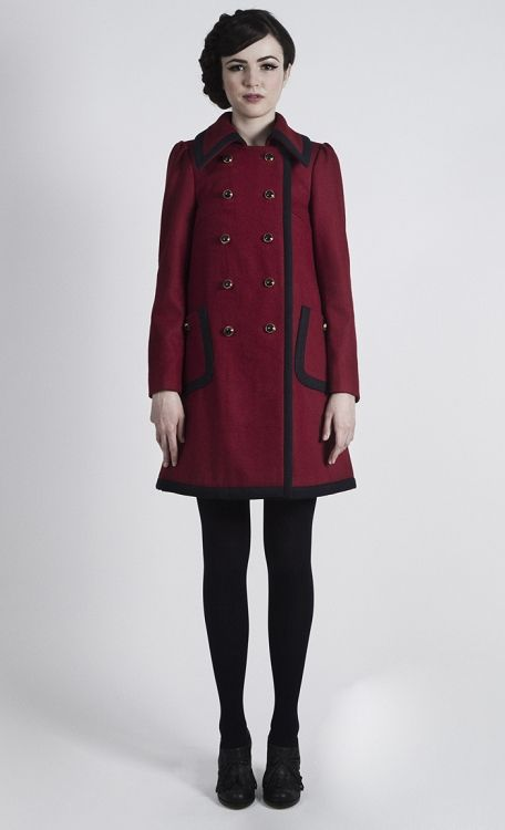 Chelsea Coat - Red/Navy by dear creatures