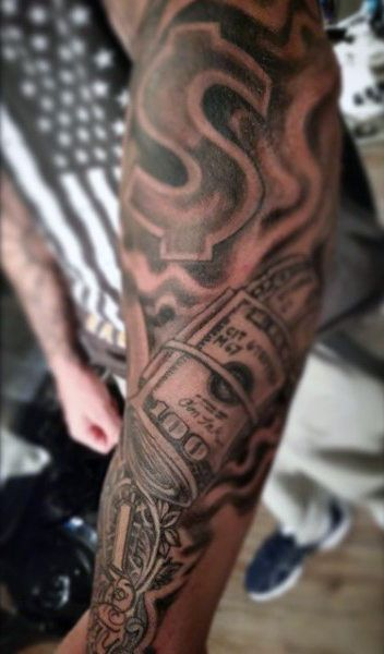 Money Sign Tattoo Designs For Men Sleeves Money Tattoo Tattoo Designs Men Respect Tattoo